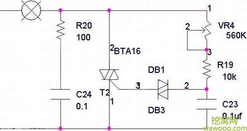 晶闸管调光电路图
