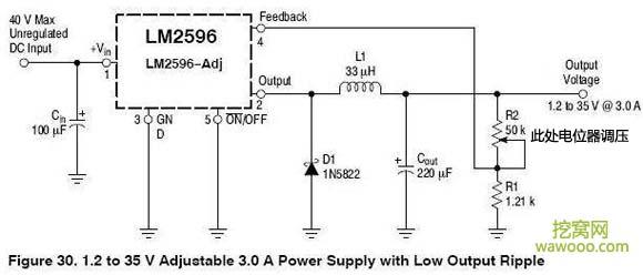 LM2596调压电路图