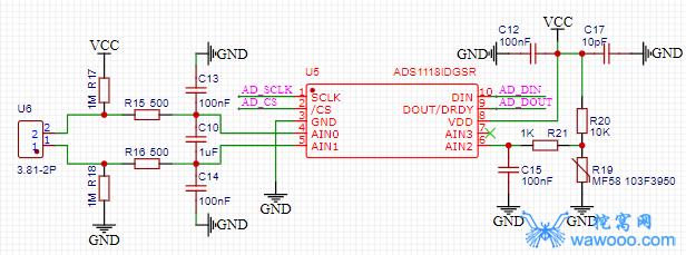 ADS1118原理图