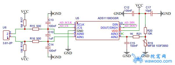 ADS1118电路图